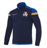 2017-2018 Italy Macron Rugby Full Zip Anthem Jacket (Navy)