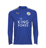 2017-2018 Leicester Puma Home Long Sleeve Football Shirt