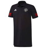 2017-2018 Man Utd Adidas EU Polo Shirt (Black)