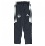 2017-2018 Man Utd Adidas Training Pants (Night Grey) - Kids