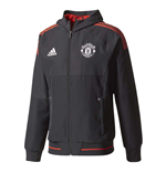 2017-2018 Man Utd Adidas UCL Presentation Jacket (Black)