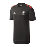 2017-2018 Man Utd Adidas UCL Training Shirt (Black)