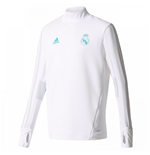 2017-2018 Real Madrid Adidas Training Top (White) - Kids