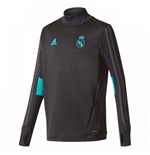 2017-2018 Real Madrid Adidas Training Top (Black) - Kids