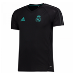 2017-2018 Real Madrid Adidas Training Shirt (Black) - Kids