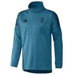 2017-2018 Real Madrid Adidas EU Hybrid Top (Vivid Teal)