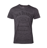 JACK DANIEL'S Men's Classic Logo Grindle T-Shirt, Large, Grey