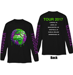 Young Thug Men's Long Sleeved Tee: Thugger Globe (Back & Sleeve Print)