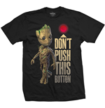 Marvel Comics Men's Tee: Guardians of the Galaxy Vol. 2 Groot & Button