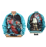 Biggie Smalls Bomber Jacket: Turqoise (Back Print)