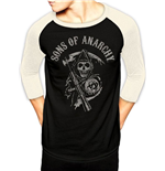 Sons of Anarchy Baseball Long Sleeve Shirt Reaper Logo