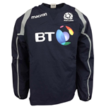 2017-2018 Scotland Macron Rugby Contact Training Top (Navy)