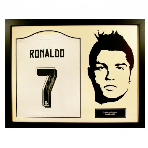 Real Madrid F.C. Ronaldo Signed Shirt Silhouette