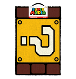 Super Mario Doormat - Question Mark Block