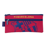 Barcelona FC pencil case with 2 zippers Red