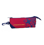 Barcelona FC pencil case triangular Red