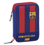 Barcelona FC pencil case double filled Stripes