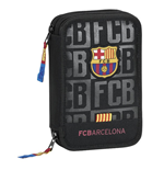 Barcelona FC pencil case double filled Black