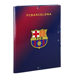 Barcelona FC cardboard binder with 3 flaps Red