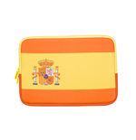 URBAN FACTORY Neoprene Flag Laptop Sleeve for 11.6 to 12 Inch Devices, Spain Flag