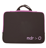 URBAN FACTORY mdr Laptop Sleeve for up to 15.6 Inch Devices, Purple
