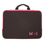 URBAN FACTORY lol Laptop Sleeve for up to 15.6 Inch Devices, Fuschia Pink
