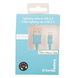 URBAN FACTORY Lightning to USB 2.0 Sync and Charge Cable, 1m, Blue