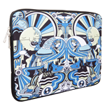 URBAN FACTORY Jeremyville Seaside Spirit Laptop Sleeve for up to 14.1 Inch Devices, Blue