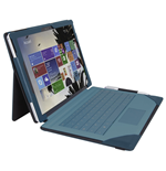 URBAN FACTORY Elegant Imitation Leather Folio with Enlarged Stand for Microsoft Surface Pro 4, Teal