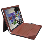 URBAN FACTORY Elegant Imitation Leather Folio with Enlarged Stand for Microsoft Surface Pro 4, Red