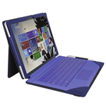 URBAN FACTORY Elegant Imitation Leather Folio with Enlarged Stand for Microsoft Surface Pro 4, Navy