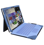 URBAN FACTORY Elegant Imitation Leather Folio with Enlarged Stand for Microsoft Surface Pro 4, Blue