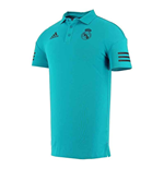 2017-2018 Real Madrid Adidas EU Polo Shirt (Vivid Teal)