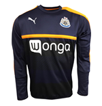 2016-2017 Newcastle Puma Sweat Top (New Navy-Flame)
