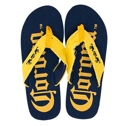 CORONA EXTRA Men's Big Logo Blue Flip Flops