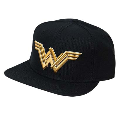 WONDER WOMAN Embroidered Logo Snapback Hat