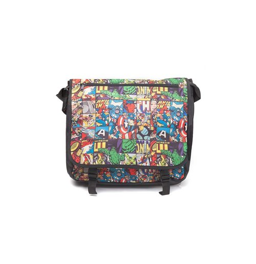 Marvel Comics- All Over Comic Style Messenger Bag Multicolor