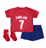 2017-2018 Atletico Madrid Home Baby Kit (Forlan 7)