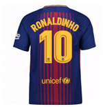 2017-2018 Barcelona Home Shirt (Ronaldinho 10) - Kids