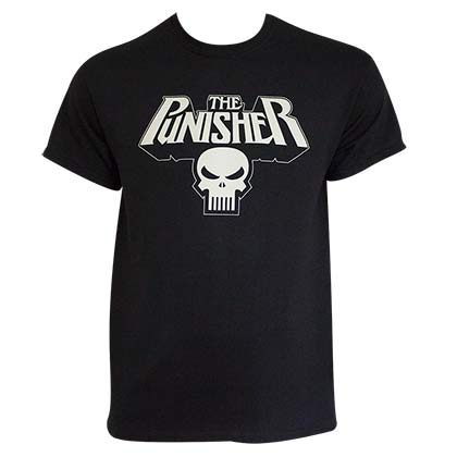 PUNISHER Glow In The Dark Logo Tee Shirt