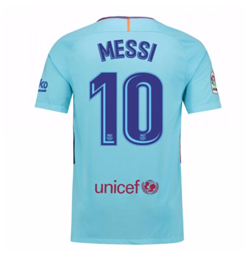 2017-2018 Barcelona Away Shirt (Messi 10) - Kids