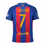 2016-17 Barcelona Home Shirt (Larsson 7) - Kids