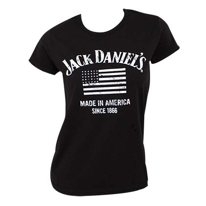JACK DANIELS Black Made In America Women's Tee Shirt