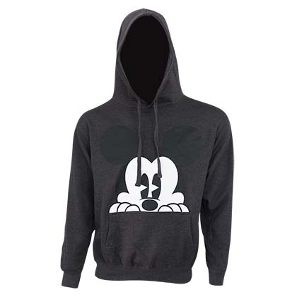 Mickey Mouse Peaking Grey Men's Hoodie