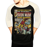 Marvel Comics Baseball Long Sleeve Shirt Iron Man Comic