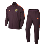 2017-2018 Barcelona Nike Squad Woven Tracksuit (Maroon)