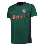 2017-2018 Leicester Tigers Players Rugby Training Shirt (Green)