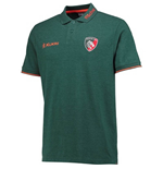 2017-2018 Leicester Tigers Players Rugby Pique Polo (Green)