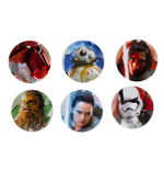 Star Wars Episode VIII Pin Badges 6-Pack