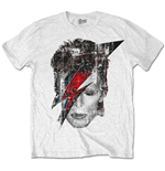 David Bowie Men's Tee: Halftone Flash Face